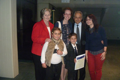 Kritharides family with teacher Despina Fandakis